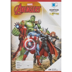 Exercise book 120 pages Marvel A4 Square Manila Cover.