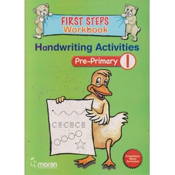 Moran First steps Workbook Handwriting  Activity Pre-primary 1