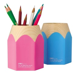 Deli pen stand Pink/Blue ref 9145