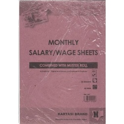 Salary/Wages Sheets Ref 801