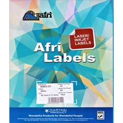 Afri Laser Labels K008-25