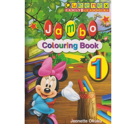 Queenex Early Learning Jambo Colouring book 1