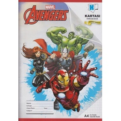 Exercise book 96 pages Marvel A4 Square Manila Cover.