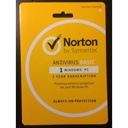 Norton Antivirus 1 user 2 years