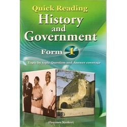 Quick Reading History and Government Form 1