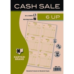 Cash Sale Book with 6 Up 100 pcs