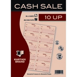 Cash Sale Book with 10 Up 50