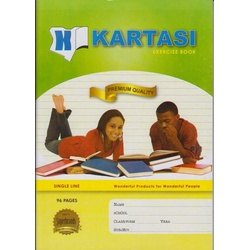 Exercise books 96 pages Kartasi Brand A4 Single Line Manila Cover