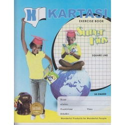 Exercise books 96pages Kartasi Brand Square Manila Cover