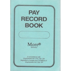 Pay Record Book