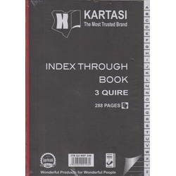 Index Through Book A4 3 Quire