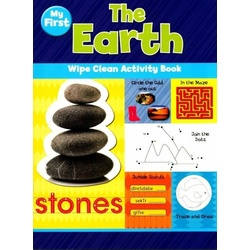 My first earth wipe clean activity book stones NPP
