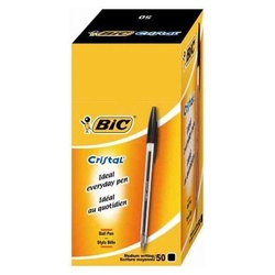 Bic Black Biro Medium 50pcs