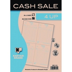 Cash Sale Book with 4 Up 50