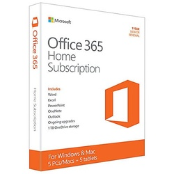 Microsoft Office 365 Home Subscription - 5 Users - 1yr Subscription
