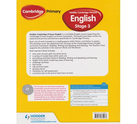 Hodder Cambridge Primary English Learner's 3