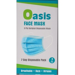 Oasis Adult Face Mask Pack of 7