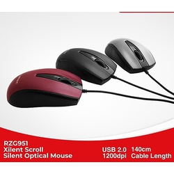 Cliptec Optical Mouse -Xilent Scroll-RZS 951 Asstd
