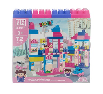 Building Block Set, 72Pcs, 73cm Height Full Made Set, Blue TI19010321/J777-10
