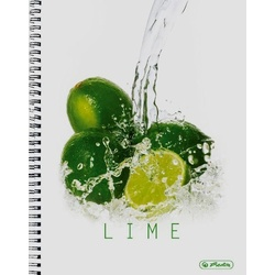 Herlitz Lime A4 Spiral ruled pad 70s 11292034