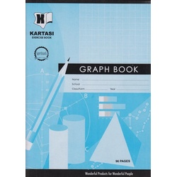 Exercise books 96 pages Kartasi Brand A4 Graph Manila Cover