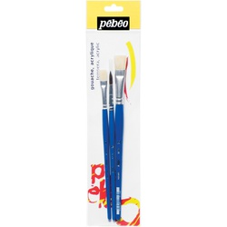 Pebeo Brush 828019 3s 1Pony + 8/12 Flat