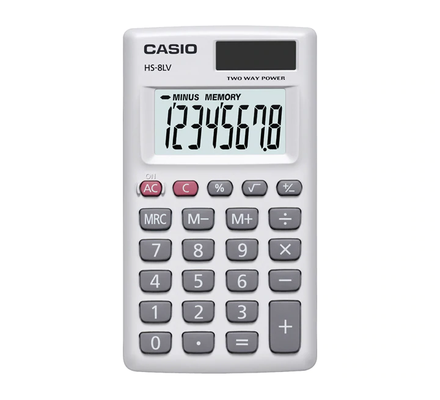 HS-8LV-WE/BK-W Casio Calculator