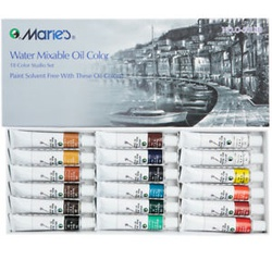 Maries Water Mixable Oil colour tubes 18s O-5018B