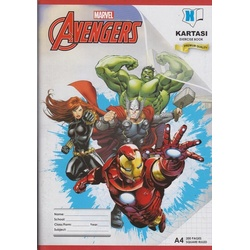 Exercise book 200 pages Marvel A4 Square Manila Cover