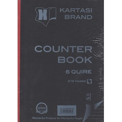 Counter Book A4 6 Quire