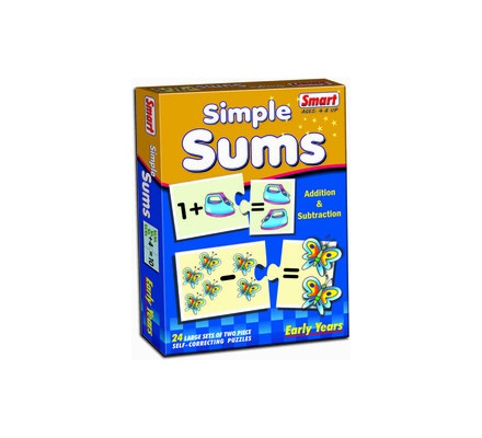 Simple Sums Puzzle Set 24 Pcs Smart Toys 1017-1