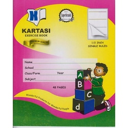 Exercise books 48pages Kartasi Brand 1/2 Single Line Manila Cover