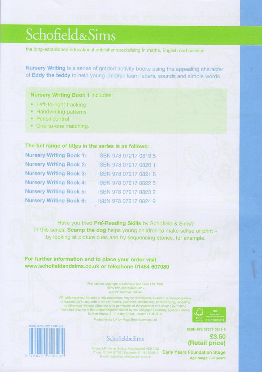 Nursery English Writing Book