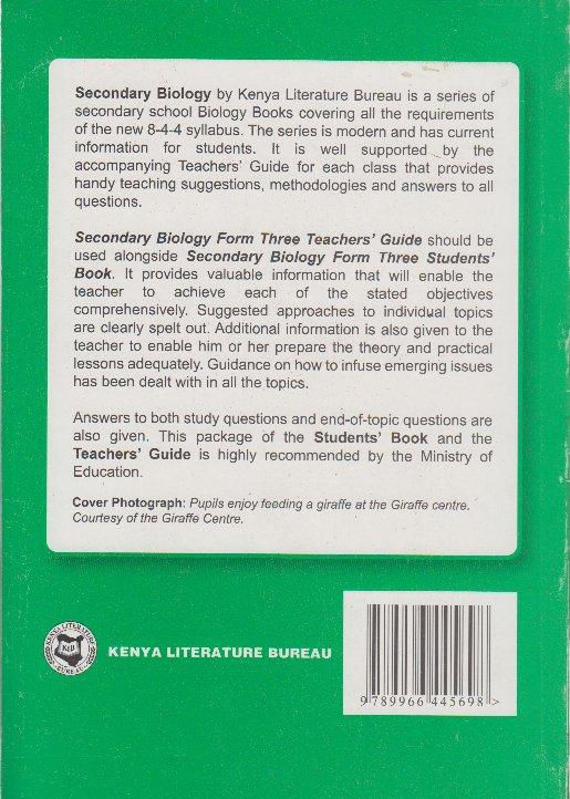 secondary biology form 3 teachers guide text book centre rh textbookcentre com