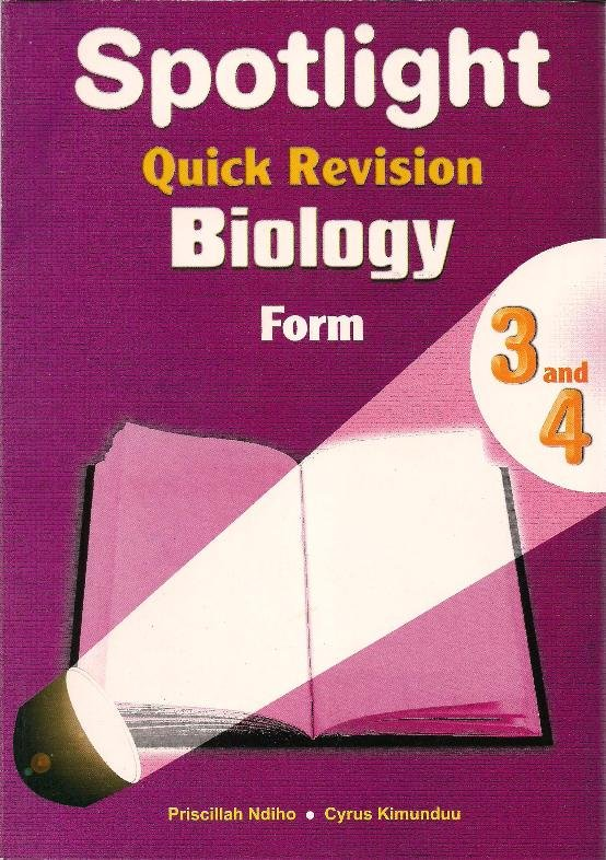 spotlight quick revision biology form 3 and 4