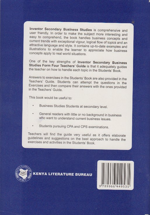 inventor secondary business studies for 4 teachers guide text rh textbookcentre com