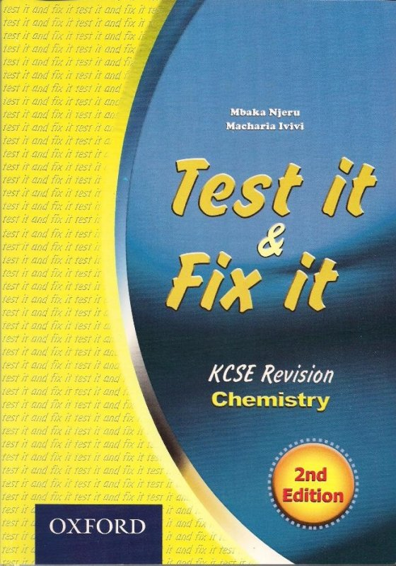 Test it & Fix it KCSE Revision Chemistry | Books, Stationery, Computers,  Laptops and more  Buy online and get free delivery on orders above Ksh