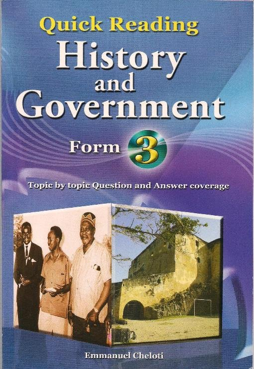 Quick Reading History and Government Form 3 | Books, Stationery, Computers,  Laptops and more  Buy online and get free delivery on orders above Ksh