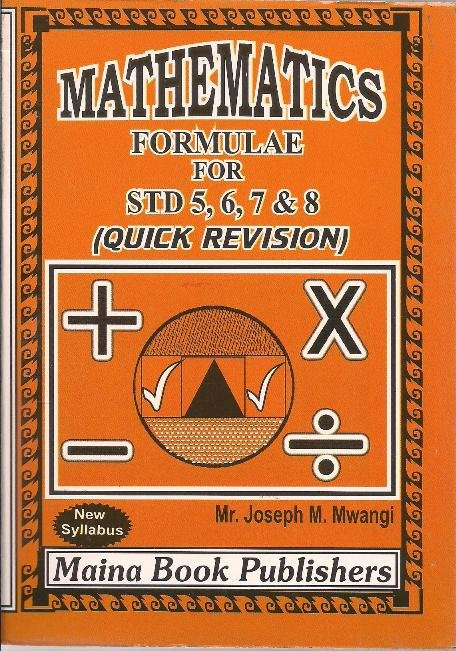Maths Formulae for Std 5,6,7 & 8 | Books, Stationery, Computers, Laptops  and more  Buy online and get free delivery on orders above Ksh  2,000  Much