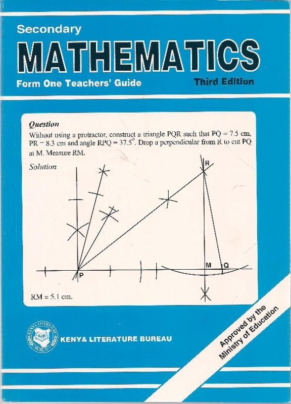 Secondary Mathematics Form 1 Teacher's book | Books, Stationery, Computers,  Laptops and more  Buy online and get free delivery on orders above Ksh