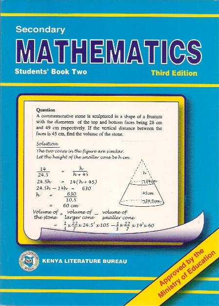 Secondary Maths Form 2 KLB | Books, Stationery, Computers, Laptops and  more  Buy online and get free delivery on orders above Ksh  2,000  Much  more