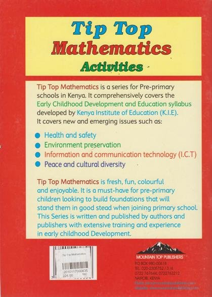 Tip Top Mathematics Activities Play Group | Books, Stationery, Computers,  Laptops and more  Buy online and get free delivery on orders above Ksh