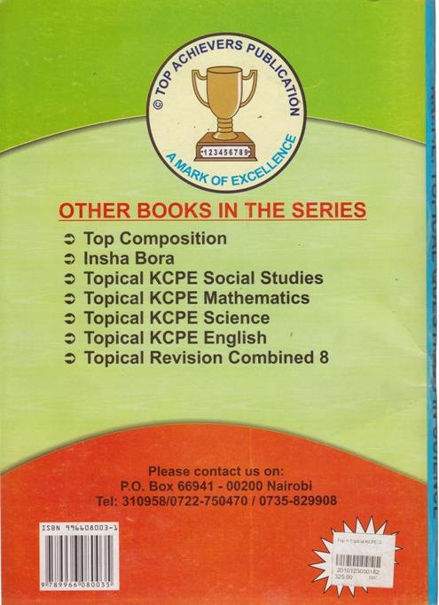 Top Achievers Topical KCPE Question in Science with answers 1190-2014 (2015  Edition)