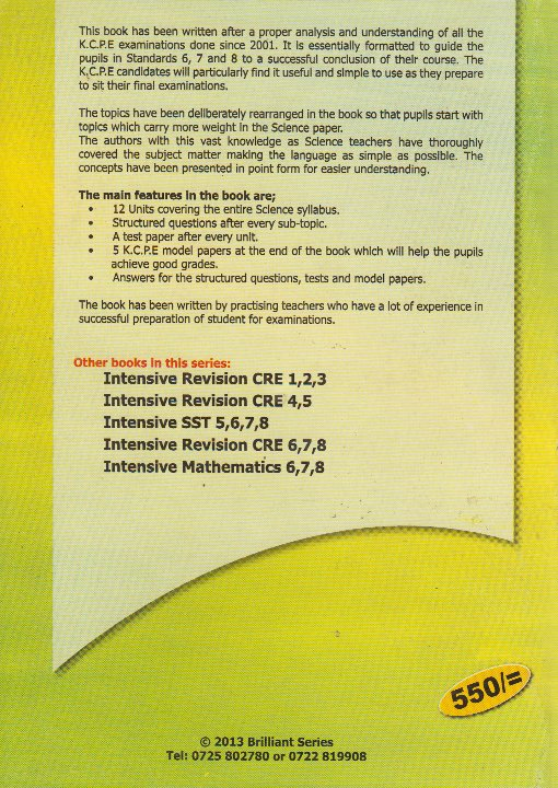 Intensive Revision Science std  6,7,8   Books, Stationery, Computers,  Laptops and more  Buy online and get free delivery on orders above Ksh   2,000