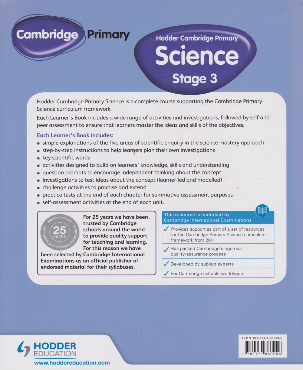 Hodder Cambridge Primary Science Learn 3 | Books, Stationery, Computers,  Laptops and more  Buy online and get free delivery on orders above Ksh