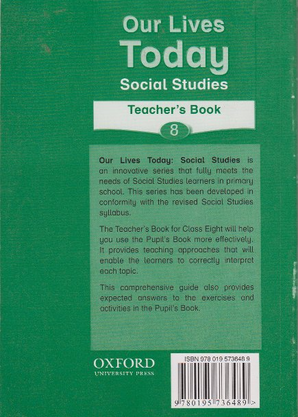 Our lives today social studies 8 teacher's book | Books, Stationery,  Computers, Laptops and more  Buy online and get free delivery on orders  above