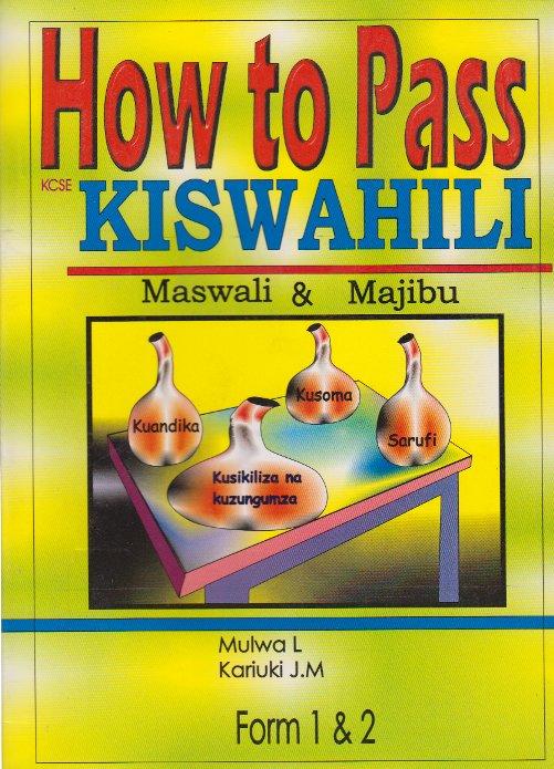 kiswahili paper 3 maswali