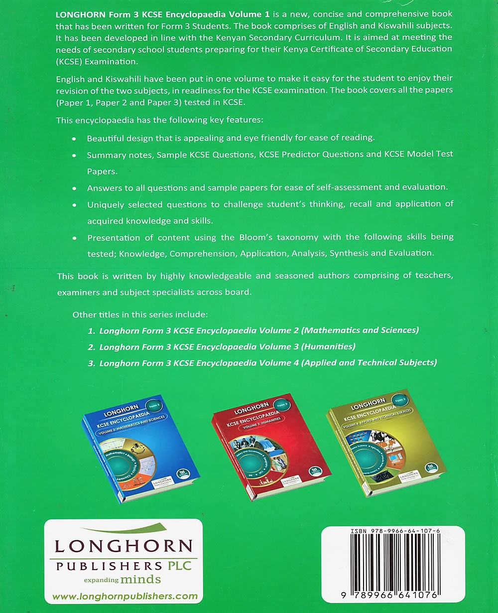 Longhorn KCSE Encyclopaedia F3 Vol 1 Languages | Books, Stationery,  Computers, Laptops and more  Buy online and get free delivery on orders  above Ksh