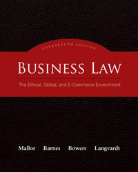 Business law [8th, 14th, 15th edition] (jane mallor, a. James.