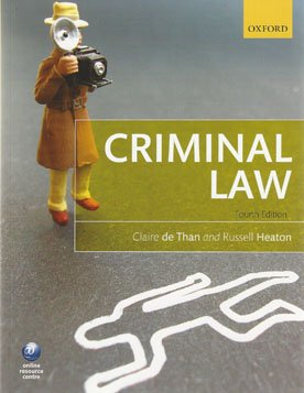 Criminal Law Essays (Examples)